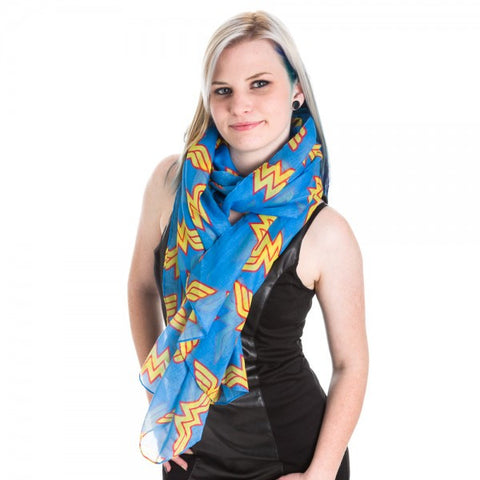 Wonder Woman Toss Print Viscose Scarf