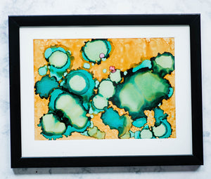 Framed Alcohol Ink Yupo Paper Kit