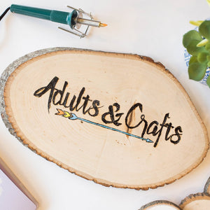 Diy Woodburning Kit Adults Crafts Adults And Crafts
