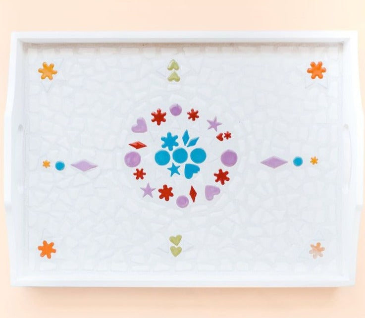 Mosaic Serving Tray Kit Adults And Crafts