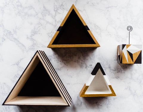 Triangle Shelves and Photo Block Kit