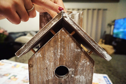 Weathered Wood Birdhouse Kit
