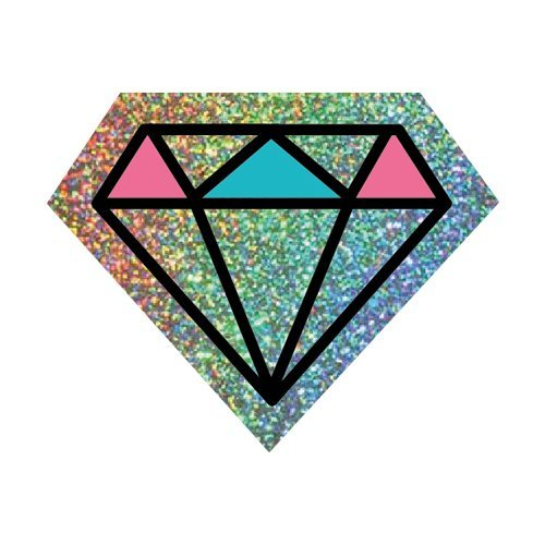 Diamond Hologram Sparkling Sticker 1.5 x 1.25 in