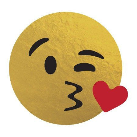 KromeBody: Blowing Kiss Emoji 2x2""