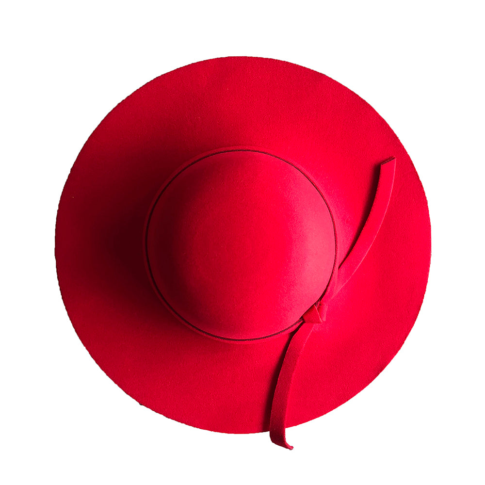 Floppy Beach Hat Adults - Red
