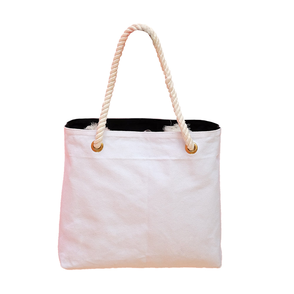 Reversible Canvas Tote (black and white)