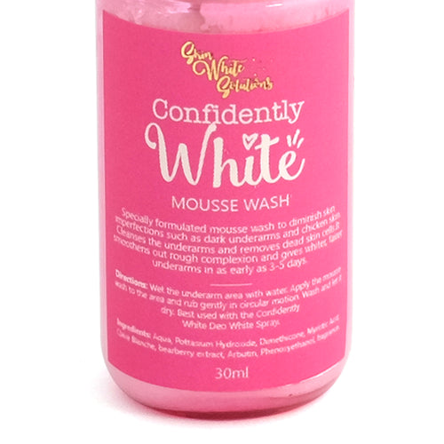 Confidently White Under-arm Mousse Wash With Clair Blanche