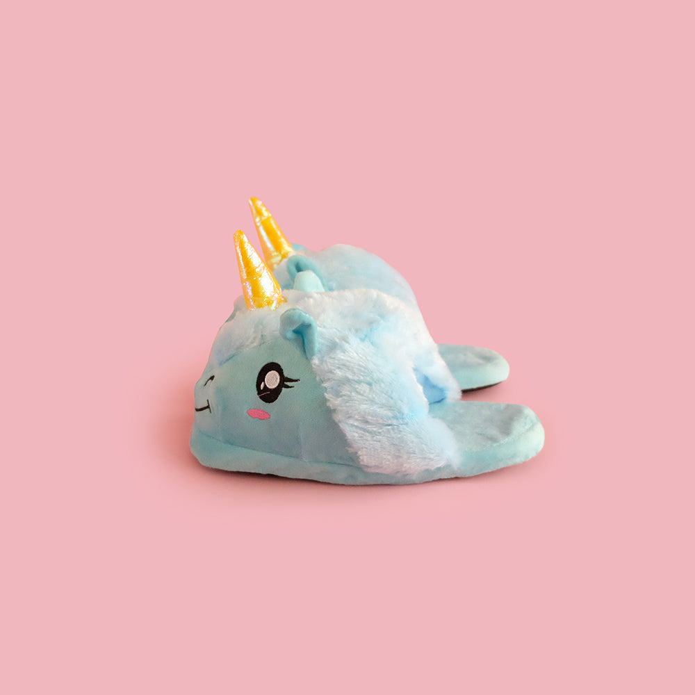 Unicorn Slippers Blue