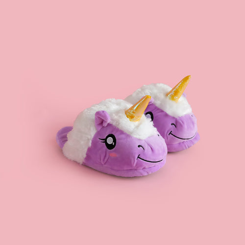 Unicorn Slippers Purple