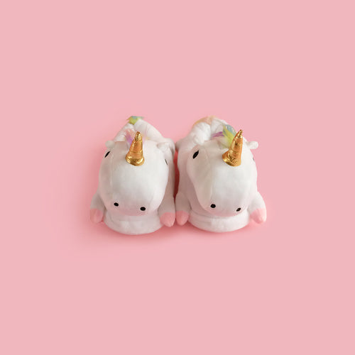 Unicorn Slippers White with Led lights