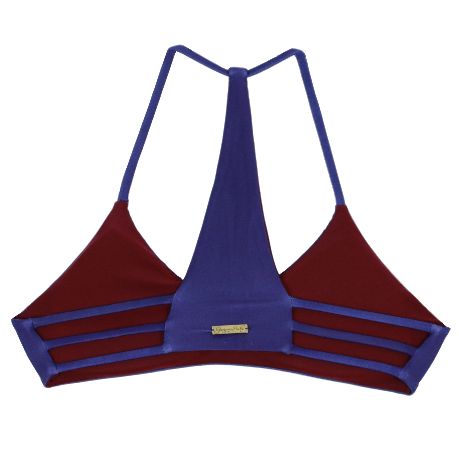 Amanpulo Top Reversible Indigo x Burgundy
