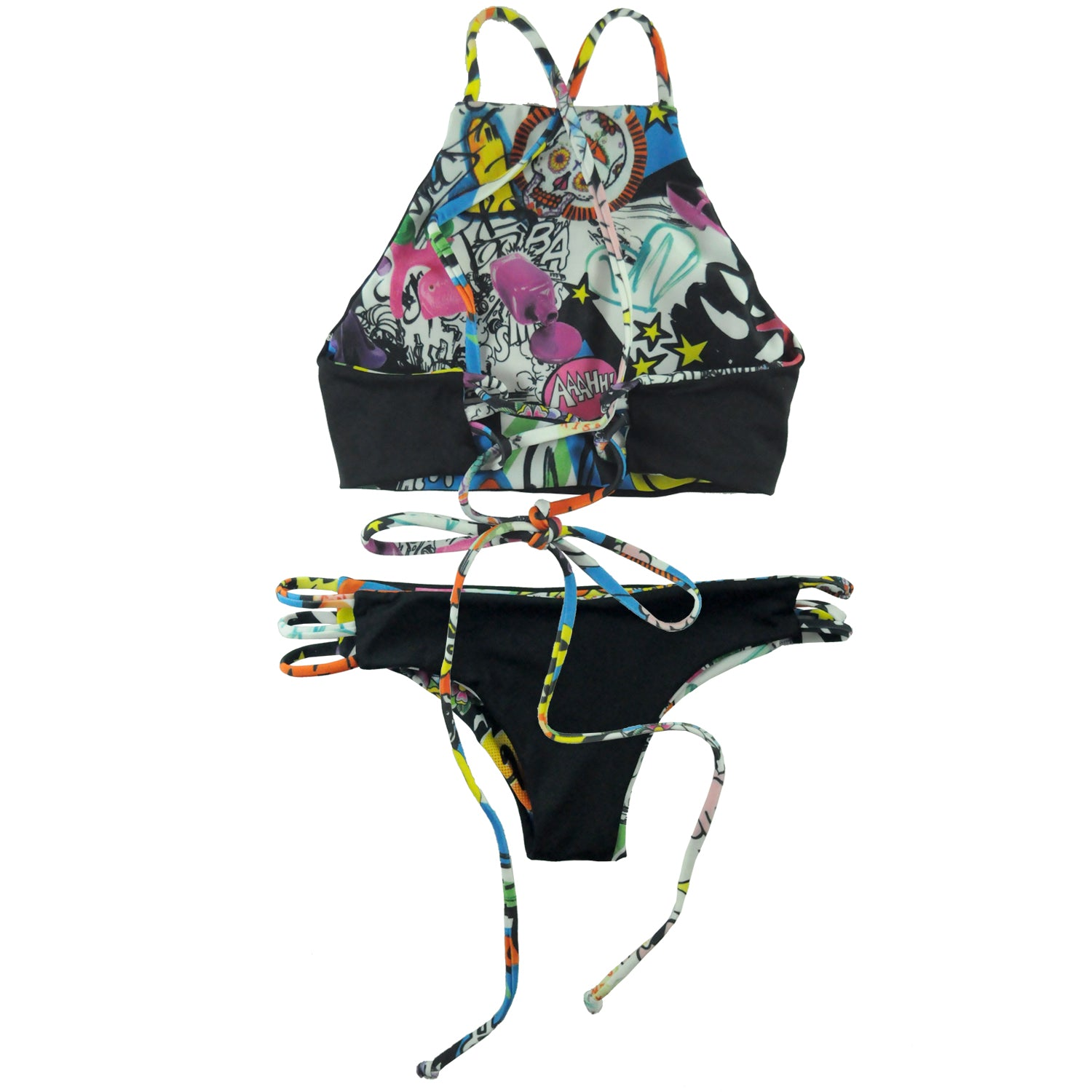 Limited Boracay Reversible Set Cartoonish x Black