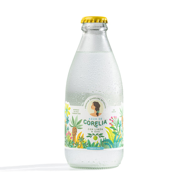 Sparkling Water with Natural Lemon Flavor..Agua con Gas con Sabor Natural a Limón