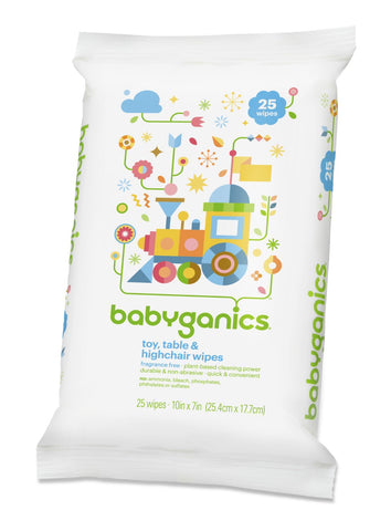 Babyganics toy, table and highchair wipes