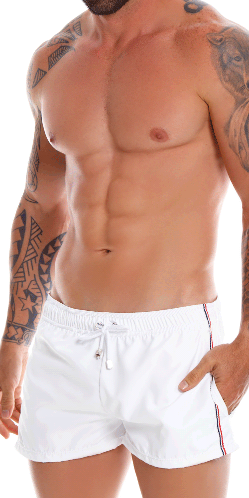 Jor 1067 Drop Athletic Shorts White