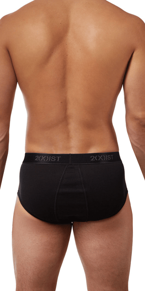 2(x)ist 3102003903 3pk Fly-front Briefs black-gray-charcoal