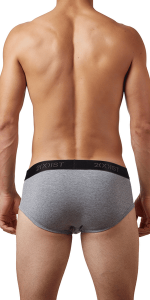 2(x)ist 3102030303 3pk Contour Pouch Briefs black-gray-charcoal