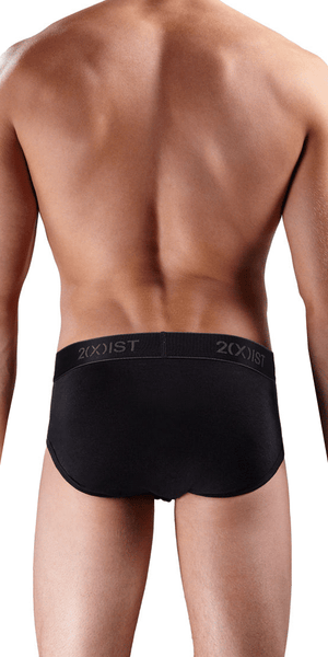 2(x)ist 3102030303 3-Pack Contour Pouch Briefs Black-Charcoal-Red