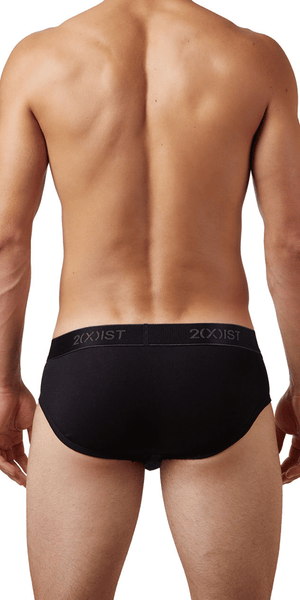 2(x)ist 3102032003 3pk No-show Briefs black-charcoal-red