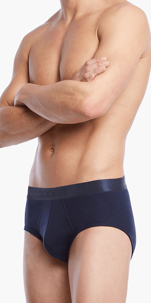 2(x)ist 3104100301 Pima Cotton Contour Pouch Briefs navy