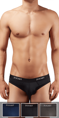 2(x)ist 3104682001 3pk Micro Speed Dri No-show Briefs black-charcoal-navy