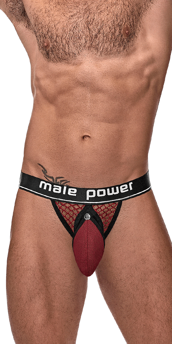 Male Power 346-260 Cockpit C-ring Jockstrap Burgundy