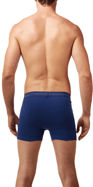 Calvin Klein 3-Pack Boxer Brief Fly Cotton Classics Blue-reflection-boardwalk - Nu3019-400