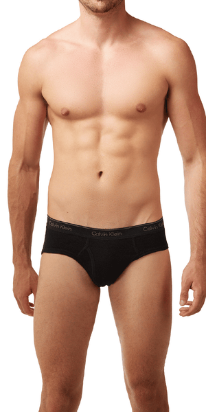 Calvin Klein 4-Pack Brief Low Rise Open Fly Cotton Classics 1-Grey Heather - 2-White - 1-black -  U4183-961