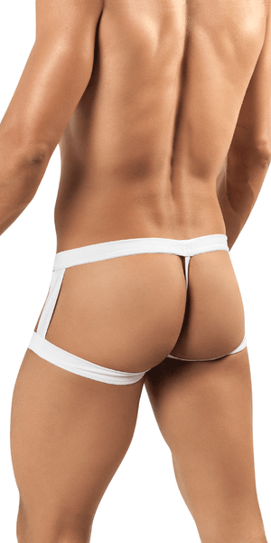 Candyman 99137 Lace Up Football Jockstrap Black-white