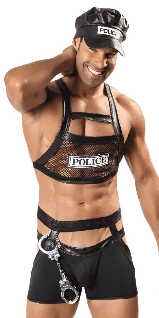 Candyman 99152 Police Outfit Black