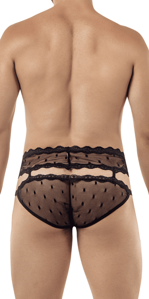 Candyman 99416 Garter Belt Briefs Black