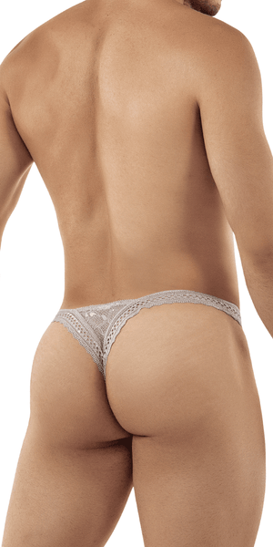 Candyman 99420 Double Lace Thongs Gray