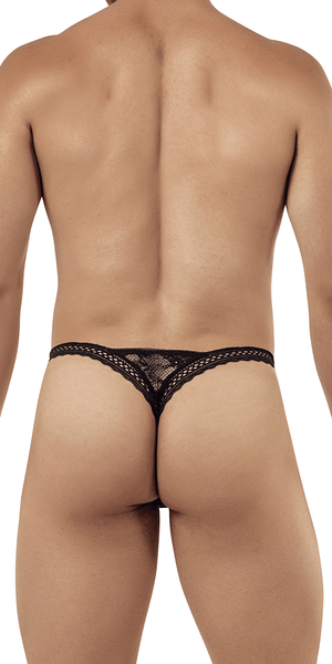 Candyman 99420 Double Lace Thongs Black