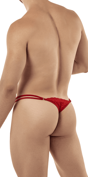 Candyman 99421 Lace G-string Thongs Red