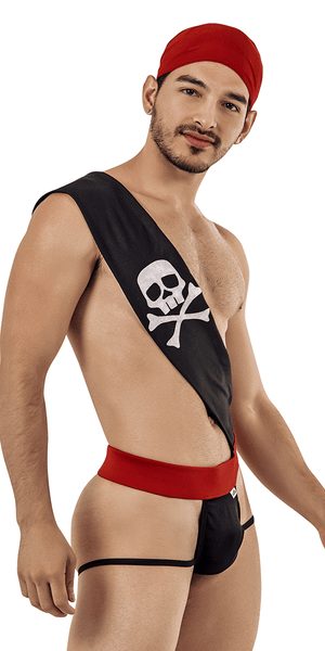 Candyman 99425 Pirate Costume Outfit Thongs Black