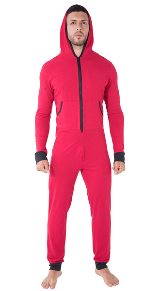 Candyman 99473 Hoodie Louge Bodysuit Red