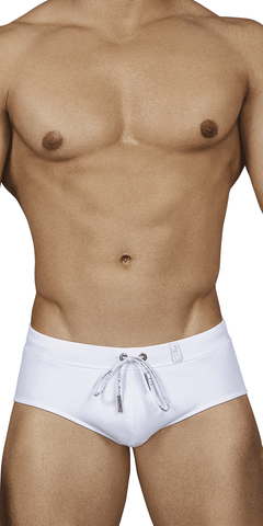 Clever 0165 Individual Swim Briefs White