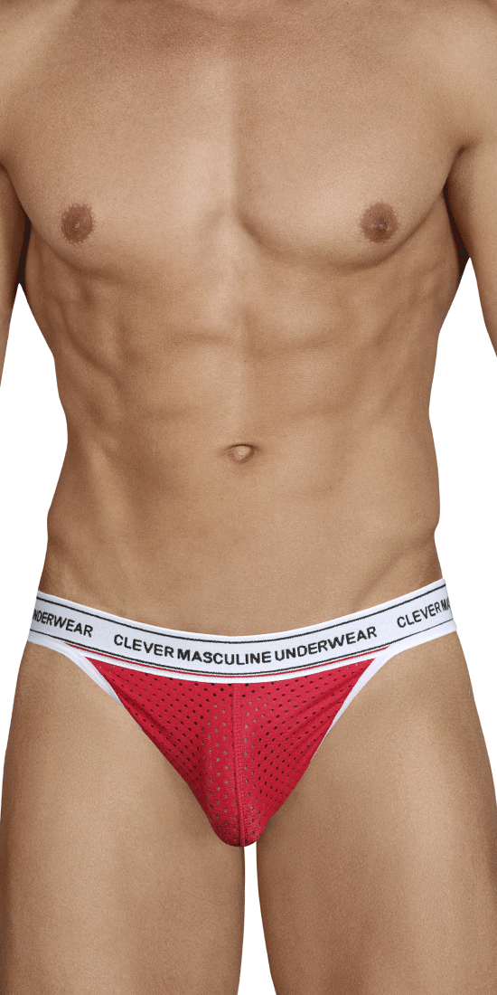 Clever 0201 Attitude Mesh Thongs Red