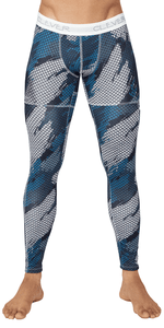 Clever 0279 Enigmatic Athletic Pants Dark Blue