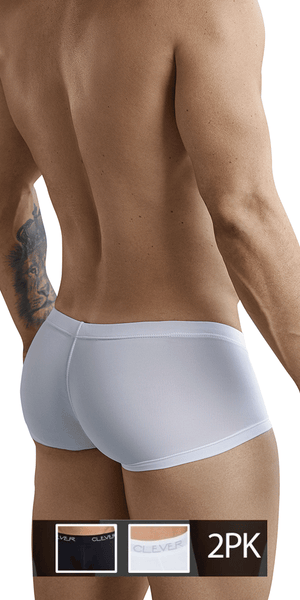 Clever 229924 2pk Australian Trunks Black-white
