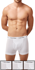 Calvin Klein 3-Pack Boxer Brief Fly Cotton Stretch White - Nu2665-100