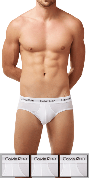 Calvin Klein 3-Pack Brief Stretch Hip Cotton  White - Nu2661-100