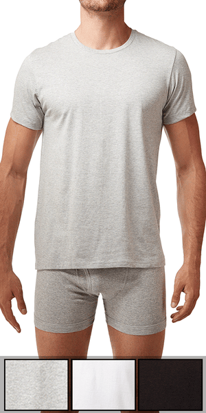 Calvin Klein 3-Pack Crew Neck Tee Cotton Classics Grey Heather-white-black - U4001-900