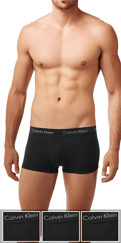Calvin Klein 3-Pack Trunk Low Rise Cotton Stretch Black - Nu2664-001
