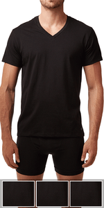 Calvin Klein 3-Pack V-Neck Tee Cotton Classics Black - M4065-001