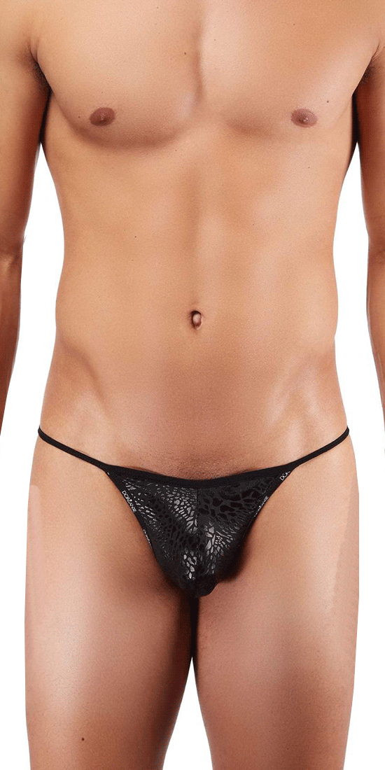 DOREANSE 1326 Flashy G-String In Black Panther