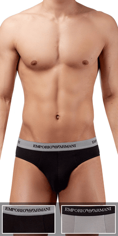 Emporio Armani 2-Pack Brief  Black-gray - 111321cc717