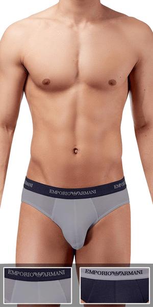 Emporio Armani 2-Pack Brief  Gray-marine - 111321cc717