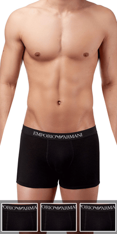 Emporio Armani 3-Pack Boxer Brief Black - 111611cc722