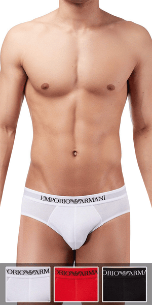 Emporio Armani 3-Pack Brief Red-white-black - 110824cc722